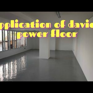 application of davies epoxy paint