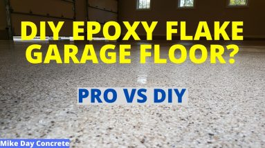 Can You DIY An Epoxy Flake Garage Floor Coating? (Yes or No)