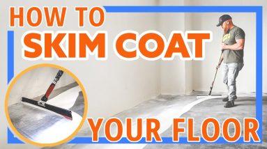 HOW TO - Skim Coat your Floor with Epoxy - Concrete Repair - Countertop Epoxy - Flooring Preparation