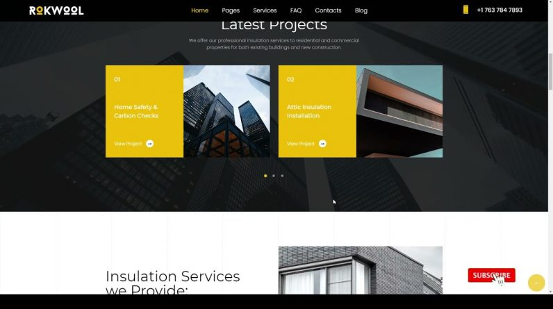 Rokwool - WordPress theme for House Insulation construction contractor industry Build Website