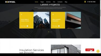 Rokwool - WordPress theme for House Insulation construction contractor renovation Website Builder